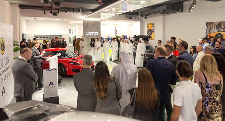 New Lotus Cars showroom launch in Dubai