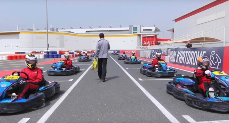 Lotus UAE had the pleasure to host the Ninth Degree ladies club to the showroom followed by a karting session